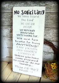 Diy Home Decor Signs by Large Front Porch Sign No Soliciting Sign White And Black Home