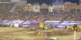 grave digger monster trucks famous monster truck grave digger crashes after failed backflip
