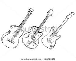 guitar clipart drawn pencil and in color guitar clipart drawn