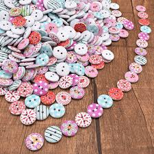 decorative crafts for home chainho mix 2 holes floral wooden buttons of diy scrapbooking
