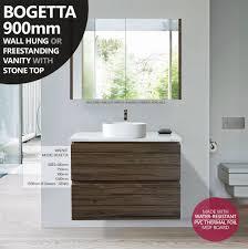 750mm Vanity Units For Bathroom by Bogetta 750mm Walnut Oak Pvc Thermal Foil Timber Wood Grain