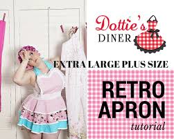 plus size apron etsy apron tutorial and pattern pdf size extra large retro sewing digital instant