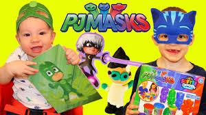 pj masks irl superheroes gekko catboy romeo u0026 owlette play doh