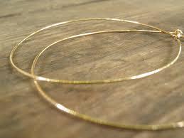 big gold hoop earrings gold hoops earrings simple large 6 cm by annalisjewelry