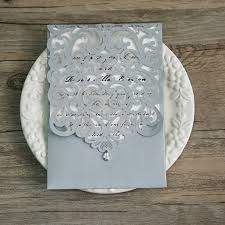 silver wedding invitations silver laser cut rhinestone wedding invites ewws068 as low as 2 09