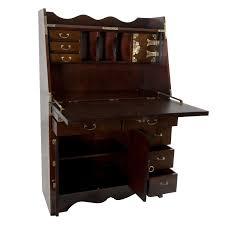 oriental furniture korean antique style drop leaf secretary desk