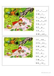red riding hood worksheet worksheet free esl printable