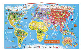 World Map Equator by Amazon Com Magnetic World Puzzle English Edition Toys U0026 Games