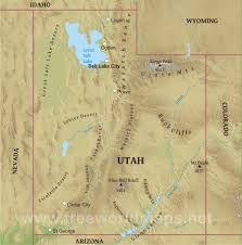 Physical Map Of The United States by Physical Map Of Utah