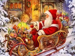 christmas santa claus santa claus with gifts pin