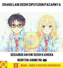 Meme Anime Indonesia - sumpah nih anime bikin sedih hendrix meme jomblo ngenes