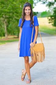 comfy blue t shirt dress short sleeve dress casual dress 29 00