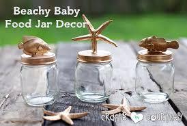 Diy Beach Theme Decor - make your own beach themed baby food jar decor