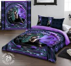 anne stokes naiad king size bed duvet cover set goth rock fairy