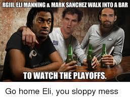 Mark Sanchez Memes - rgiii eli manning mark sanchez walk into a bar memes to watch the