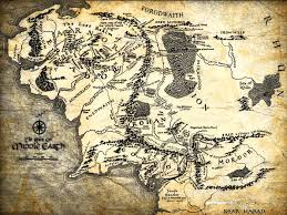 map from lord of the rings the lord of the rings middle earth map wall print poster uk ebay