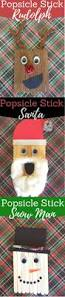 fun christmas crafts for kids popsicle stick rudolph santa and a