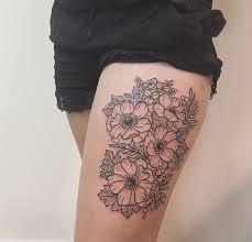 anemone tattoo thigh piece white whale tattoo studio cincinnati
