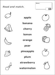 fruits vocabulary for kids learning english printable resources