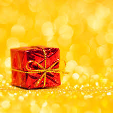 Yellow Decorative Box Red Decorative Box With Holiday Gift Royalty Free Stock Image