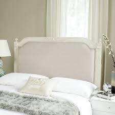antique beige wood beige linen headboard headboards furniture by