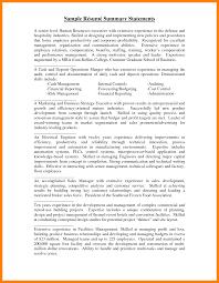 resume templates summary statement awesome best resume summary