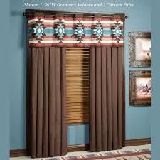 Southwestern Style Curtains Southwest Frontier Grommet Window Treatments Grommet Curtains