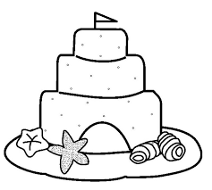 Sand Castle Coloring Pages And Print These For Grig3 Org Sandcastle Coloring Page