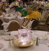 Photo Cubes Centerpieces by Lighted Glass Cubes New Orleans Louisiana Fancy Faces Decor
