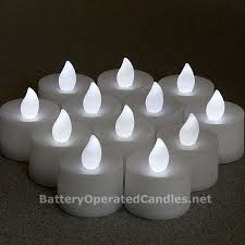 no flicker flameless tea lights white led battery operated