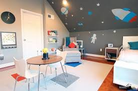 Outer Space Rug Fantastic Kids Room With Modern Bed And Cozy Lounge Chair Also