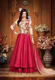gown designs embroidered fuchsia and ivory stylish gown style designs