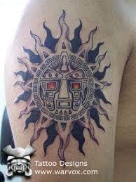 tribal sun tattoo u20aa aztec tattoos u20aa aztec mayan inca tattoo