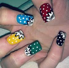 179 best comic nails images on pinterest pretty nails make up