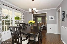traditional dining room with hardwood floors bamboo floors in