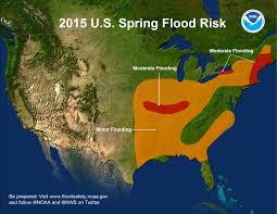 United States East Coast Map by Noaa Risk Of Moderate Flooding For Parts Of Central And Eastern
