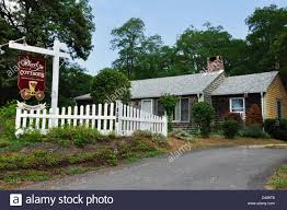 wheel inn cottages cape cod massachusetts usa stock photo
