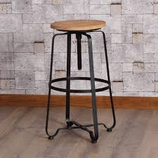 chic wrought iron kitchen bar stools with black thin iron stool