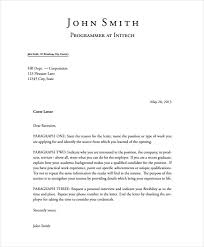 presentation letter presentation letter template 6 cover letter templates free