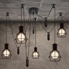 retro glass shade down light industrial pendant light