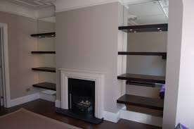 Thick Floating Shelves by Mirrored Alcoves With Shelving Front Room 114 Pinterest