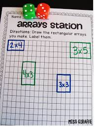 miss giraffe u0027s class how to teach arrays jola pinterest