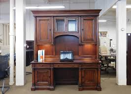 l shaped desk with hutch left return pre owned desks and workstations discount office solutions