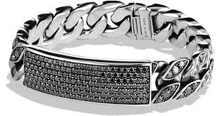 black diamonds bracelet images David yurman pav curb chain id bracelet with black diamonds in jpeg