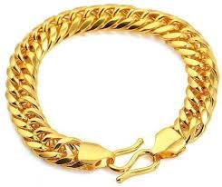 mens gold bracelet links images Buy 24k real gold plated men 39 s classy link bracelet bracelets jpg