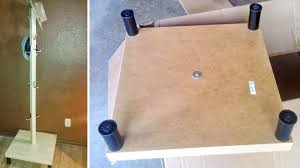 make a coat rack and hat stand with a table and some extra legs