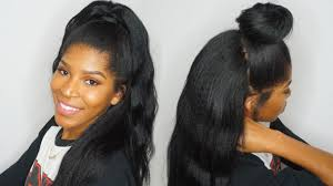 Half Up Half Down Hairstyles Black Hair Half Up Half Down Using Clip Ins Ft Knappyhairextensions Youtube