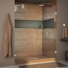 48 In Shower Door Dreamline Unidoor 72 X 48 Hinged Frameless Shower Door With