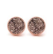 druzy stud earrings druzy pop stud earrings kristine delicate designer