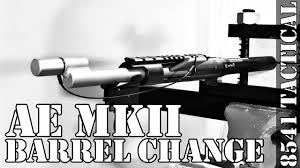 accuracy international ae mkii barrel change youtube
